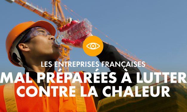 Les entreprises françaises mal préparées à lutter contre la chaleur